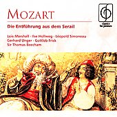 Mozart: Die Entf&uuml;hrung aus dem Serail, etc / Beecham, Jouve