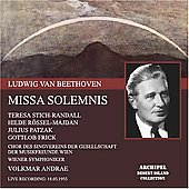 Beethoven: Missa solemnis / Andrae, Stich-Randall, Patzak, et al