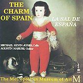The Charm of Spain - An Anthology of Spanish 16th-century melodies: Rucker, Carnicer, Moreno et al. / Michael Kevin Jones, cello; Agustin Maruri, guitar