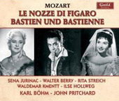 Mozart: The Marriage of Figaro; Bastien und Bastienne / Jurinac, Berry, Streich, Hollweg, Kmentt