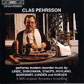 Clas Pehrsson performs Modern Recorder Music