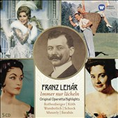 Franz Lehàr: Electrola Operetta Collection - Highlights from Das Land des Lächelns, Der Zarewitsch, Paganini, Die lustige Witwe et al. / Rothenberger, Koth, Wunderlich, Schock, Muszely  [6 CDs]
