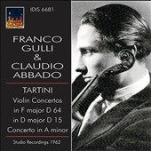 Tartini: Violin Concerto in F major, D 64; Violin Concerto in D major, D 15; Concerto in A minor / Franco Gulli, violin (rec. 1962)