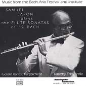 Bach: Sonatas for Flute and Harpsichord, etc / Samuel Baron