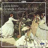 Farrenc: Symphony no 2, Overtures / Goritzki, et al