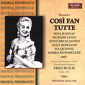 Mozart: Cos&igrave; fan tutte / Busch, Lewis, Jurinac, et al