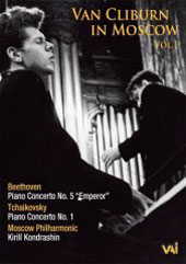 Van Cliburn in Moscow, Vol. 1 /  Beethoven, Tchaikovsky Concertos (1962) [DVD]
