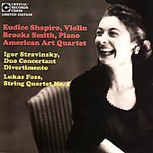 Stravinsky: Duo Concertant;  Foss: String Quartet 1 /Shapiro