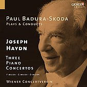 Paul Badura-Skoda Plays & Conducts Joseph Haydn: Three Piano Concertos, in F, G & D