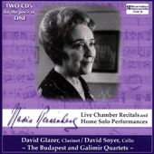 Nadia Reisenberg: Live Chamber Recitals & Home Solo Performances / Nadia Resenberg, piano; David Glazer, clarinet; David Soyer, cello; The Budapest Quartet; Galimir Quartet