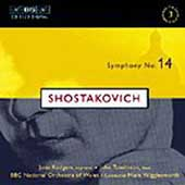 Shostakovich: Symphony no 14 / Wigglesworth, Rodgers, et al