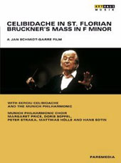 Bruckner: Mass in F minor; bonus documentary: Celibidache in Moscow, 1989 / M. Price; Soffel, Straka, Holle, Sotin. Celibidache, Munich [DVD]