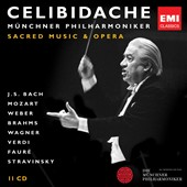 Celibidache: Sacred Music & Opera / Brahms, Mozart, Bach, Wagner, Verdi et al. [11 CDs]