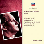 Kempff Plays Brahms, Vol. 1