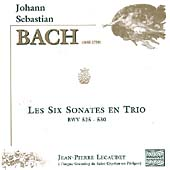 Bach: Les Six Sonates en Trio / Jean-Pierre Lecaudey