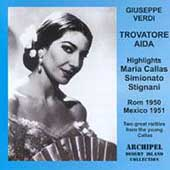 Verdi: Trovatore, Aida Highlights / Callas, Simionato, et al