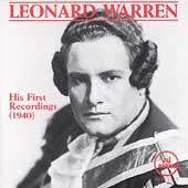 Leonard Warren - His First Recordings