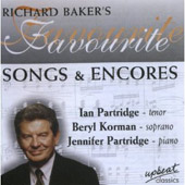 Richard Baker's Favourite Songs and Encores / Ian Partridge
