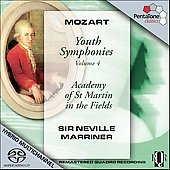 Mozart: Youth Symphonies Vol 4 / Marriner, ASMF