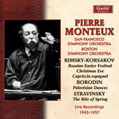 Pierre Monteux conducts Borodin, Rimsky-Korsakov, Stravinsky