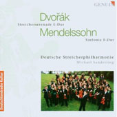 Dvorak: Serenade in E Major; Mendelssohn: Symphony in F Major / M. Sanderling