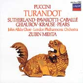 Puccini: Turandot / Mehta, Sutherland, Pavarotti, Caball&#233;