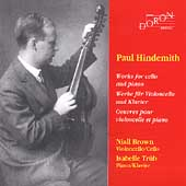 Hindemith: Works for Cello and Piano / Niall Brown, Trüb