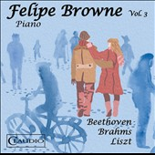 Brahms: 'Paganini' Variations, Op. 35; Beethoven: Piano Sonatas 'Pathétique' & 'Moonlight'; Liszt: Etude No. 6; Theme & Variations et al. / Felipe Browne, piano