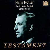 Hans Hotter - Wolf Lieder Recital / Gerald Moore