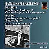 Brahms, Haydn: Symphonies / Knappertsbusch, Berlin PO