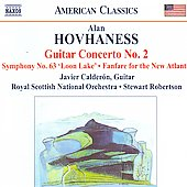 American Classics - Hovhaness: Guitar Concerto no 2, Symphony no 63, etc / Robertson, Calder&oacute;n, Royal Scottish NO