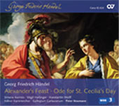 Handel: Alexander's Feast, Ode for St Cecilia's Day / Neumann, Kermes, Hartinger, et al