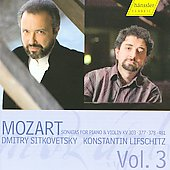 Mozart: Violin Sonatas Vol 3 / Sitkovetsky, Lifschitz