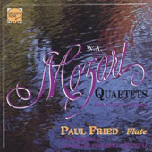 Mozart: Quartets for Flute & Strings / Paul Fried