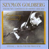 Szymon Goldberg Centenary (Edition), Vol. 2: Commercial Recordings / Szymon Goldberg, violin [8 CDs]