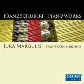 Schubert: Piano Works / Jura Margulis performing on a modern grand piano equipped with a