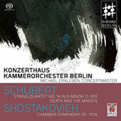 Schubert: String Quartet No. 14 in D minor, D. 810; Death and the Maiden; Shostakovich: Chamber Symphony, Op. 110a
