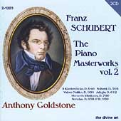 Schubert: The Piano Masterworks Vol 2 / Anthony Goldstone