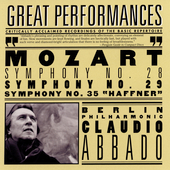 Mozart: Symphonies no 28, 29 & 35 / Abbado, Berlin PO