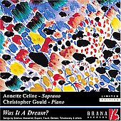 Was it a Dream? - Sibelius, Massenet, Dupark, etc / Celine, Gould