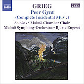 Grieg: Peer Gynt Op. 23, At a southern convent's gate Op. 20, etc / Engeset, Malmö SO, et al