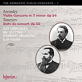 The Romantic Violin Concerto Vol 7 - Arensky, Taneyev / Gringolts, Volkov, et al