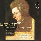Mozart: Clarinet Quintet K 581, etc / Dieter Kl&ouml;cker, Leopold String Quartet, et al