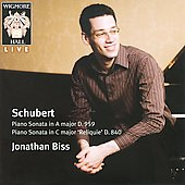 Schubert: Piano Sonata in A major D 959, Piano Sonata in C major 'Reliquie' D 840 / Jonathan Biss