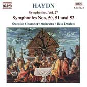 Haydn: Symphonies Vol 27 / B&eacute;la Drahos, Swedish CO