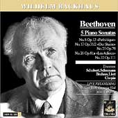 Beethoven: Sonatas;  Chopin: Etudes;  etc / Backhaus