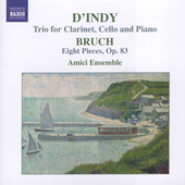 D'Indy, Bruch: Works for Clarinet, Cello & Piano
