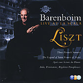 Live at La Scala - Liszt: Petrarch Sonnets, etc / Barenboim