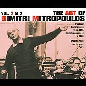 The Art of Dimitri Mitropoulos Vol. 2 - Broadcast Performances 1945-1955 - Mahler, Bach, et al