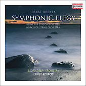 Krenek: Symphonic Elegy / Ernst Kovacic